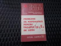 Probleme de matematica pentru treapta a I si a II a de liceu