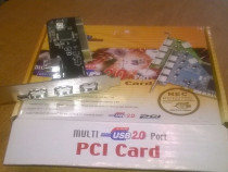 Adaptor Best Ports Conection PCI Card USB 2.0