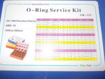 Set O-ring-uri mixt metric si gaz