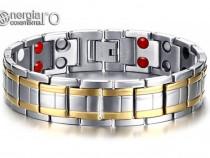 Bratara Magnetica din INOX placata cu aur - cod BRA007