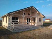 Construim Casa de vacanta din lemn masiv grinda 12cm/16cmr