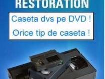 Transfer caseta VHS, 8MM, MiniDV pe dvd / memorie / stick
