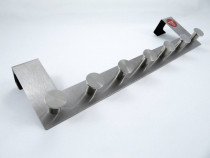 Cuier metalic - de agatat pe usa - cu 7 agatatori - Nou