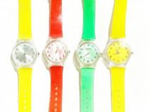 Ceas de mana electronic Swatch color curea plastic