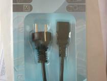 Cablu alimentare universal nou pt pc,monitor,imprimantă etc.