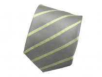 Cravata Eterna Noua Matase Gri Verde