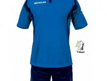 Echipament fotbal Givova ARES tricou+pantaloni scurti sort