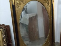 Oglinda cu rama din lemn stil