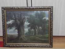 Tablou vechi de V. Carl Hübscher, pictor elvețian cotat