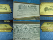 Cutie veche Tigarete ARAKS, metal anii 1920-30, 12/7.5 cm.
