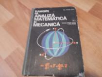 Elemente de analiza matematica si mecanica - manual cl XII