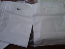 Sacose, pungi, albe plastic mici, 30x40 cm- set 100 bucati