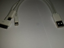 Cablu USB cu 3 mufe Iphone Micro USB Samsung
