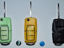 Carcase chei skoda/vw, 3 butoane, 5 culori