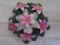 Coronita flori plastic pentru evenimente funerale
