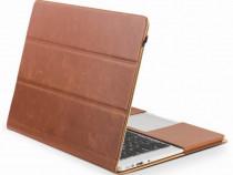 Husa laptop piele naturala Qialino Macbook Air 13.3, maro