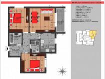 Apartament 3 camere imobil nou Auchan Titan