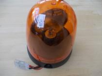 Girofar portocaliu cu baza plana si lampa de 12V
