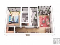 Apartament 2 camere, loc de parcare , militari