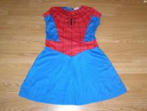 Costum carnaval serbare spidergirl pentru copii de 4-5-6 ani