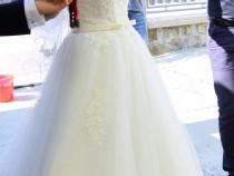 Rochie mireasa model unicat Sandrini style voal+crinolina