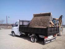 Transport nisip si agregate de balastiera