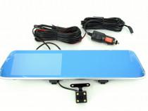 Oglinda monitor camera dubla cu tuch screen T8, filmeaza hd,