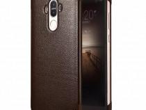 Husa slim piele smart cover Xoomz, Huawei Mate 9, maro cafea