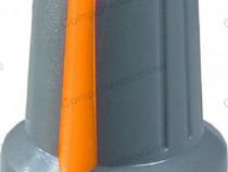 Buton pentru potentiometru, 15mm, plastic-127001