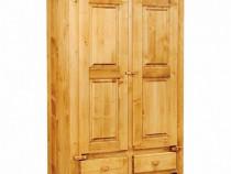 Dulap rustic lemn masiv 2 usi si 2 sertare