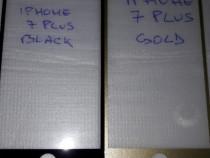 Iphone 7 plus folie sticla full black / gold