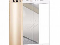 Folie Sticla Huawei P10 White Fullcover Tempered Glass Ecran
