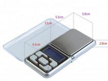 Cantar bijuterii capac transparent 0.1g-500g - precizie: 0.1