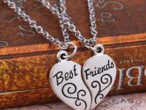 Lantisor Lantisoare Pandantiv Best Friends BFF cuplu ieftin