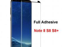 Samsung S8 S8+ S9 S9+ folie sticla neagra full adeziv