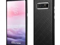 Husa piele naturala iCarer Samsung Note 8 fara clapeta negru