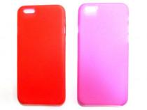2x Husa protectie iPhone 6, carcasa spate telefon, rosu, roz