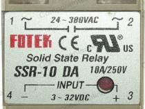 Releu Solid State, 10A, 24-380VAC SSR-10 DA, Fotek - 128512