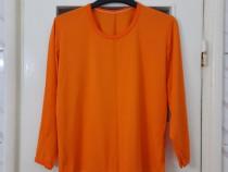 Bluza dama portocalie maneca lunga marimea M / L - Noua
