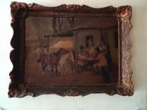 Tablou vechi-pictura in ulei pe carton-1925