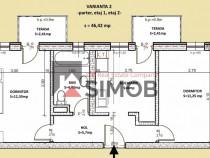 Apartament cu 2 camere etaj 1 – constructie noua cisnadie