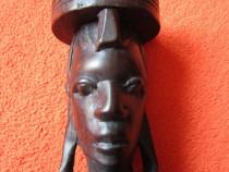 Cadou inedit -arta africana sculptura in lemn -vintage