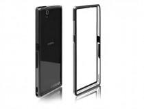 Husa bumper silicon + plastic sony xperia e3 clear black nou
