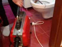 Desfundare canalizare cu sarpe electric, instalatii sanitare