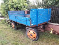 Remorca agricola auto cu sistem de franare