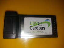 Adaptor PCMCIA usb 2.0 4 porturi- high speed multi ports us