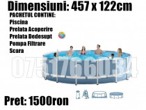 Piscina Familie Cadru Metal 457x122cm Pachet Complet