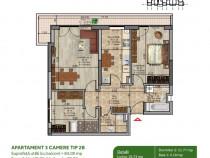 Apartament 3 camere Metrou Nicolae Teclu, Theodor Pallady,