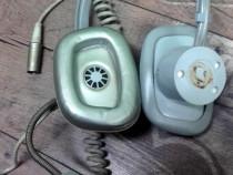 Casti cu microfon vintage tesla