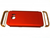 Carcasa protectie telefon Samsung Galaxy S7, rosie, 3 piese
